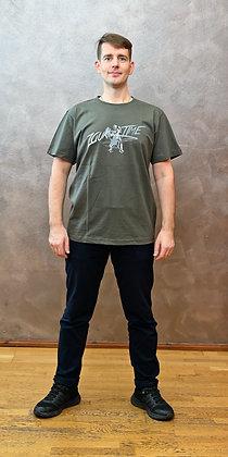 Tričko Zouktime - zelenošedá