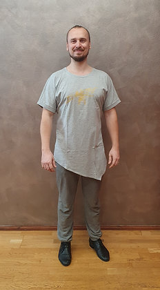 Tričko Zouktime asymetrické - šedá