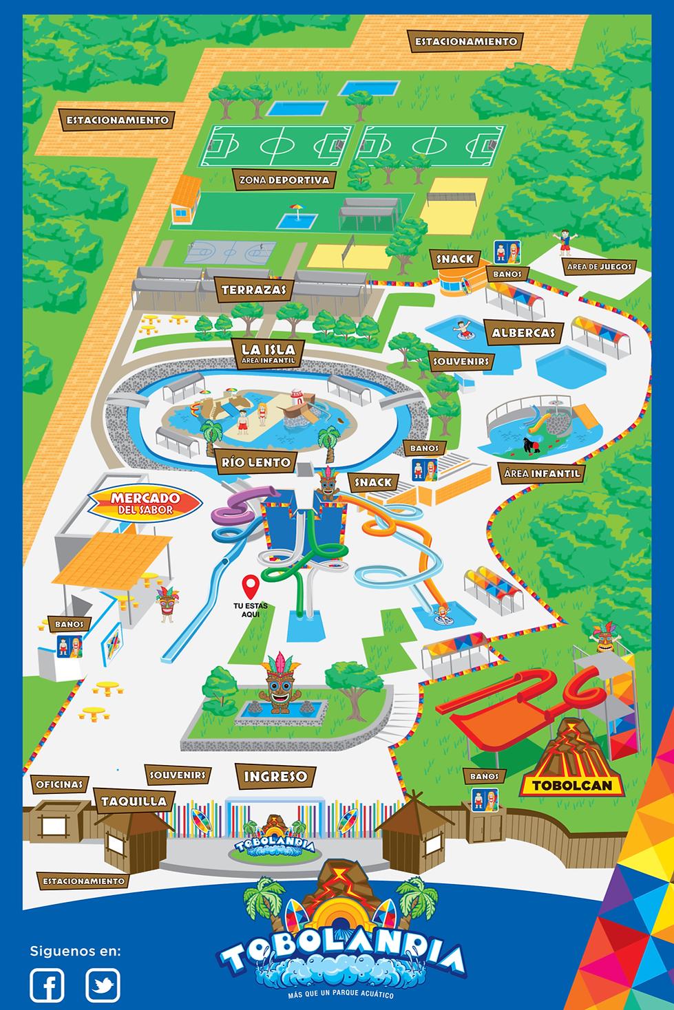 Mapa a la diversion Tobolandia