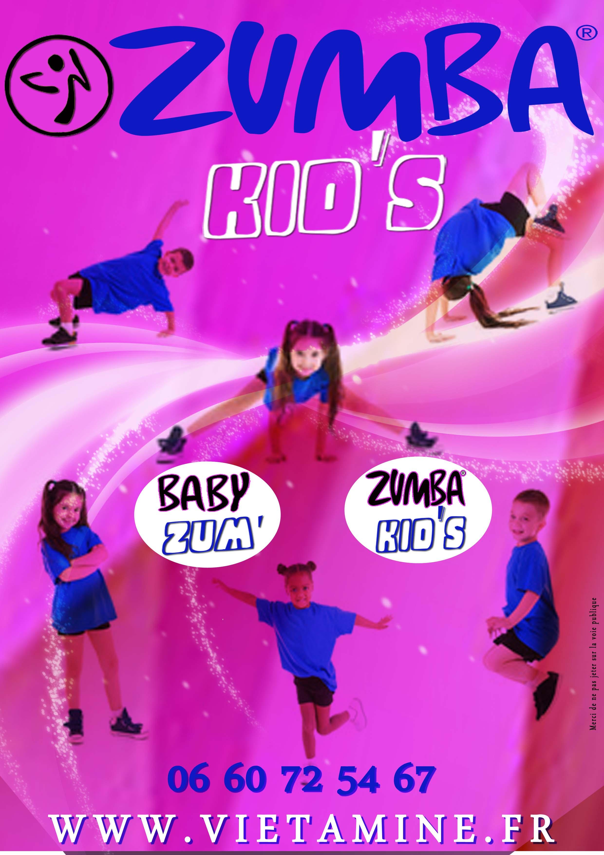 Affiche Zumba Kid's 2017-2018