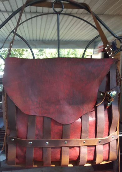 Redwith Brown weave Bag
