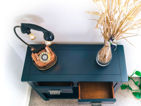 Upcycling an old console table