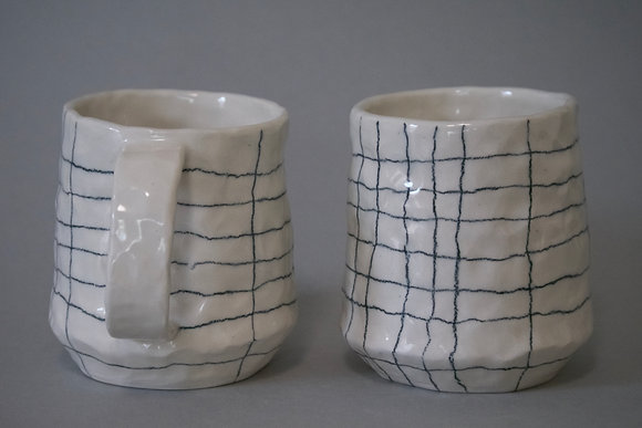 Pinch Grid Mug 8oz