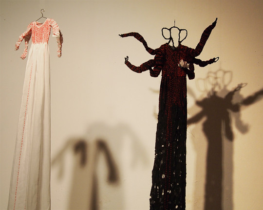 lily pad dress and black ganesha