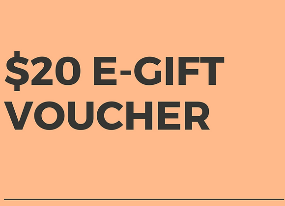 $20 E-Gift Voucher