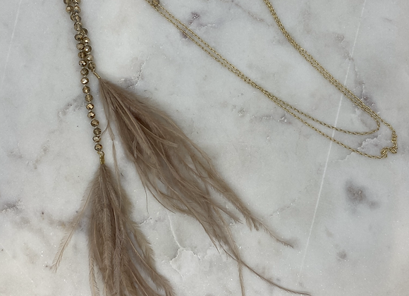 Lariat Feather Necklace