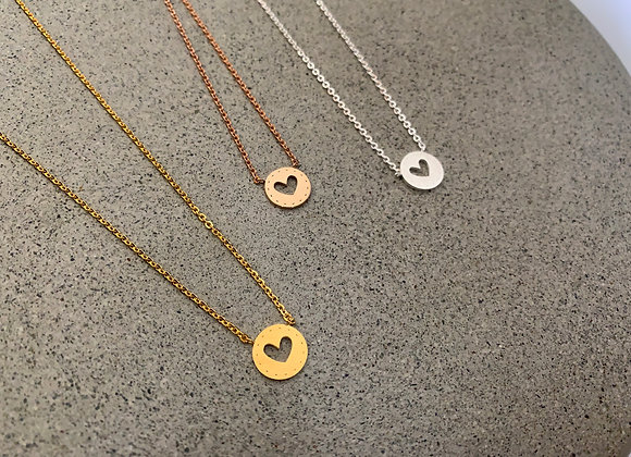 Heart Stencil Necklace