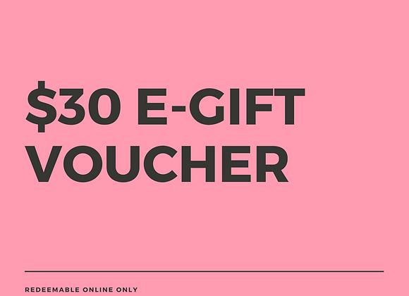 $30 E-Gift Voucher