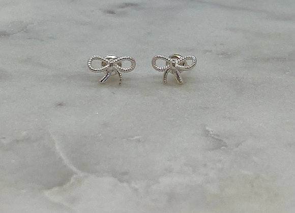 Silver Bow Stud