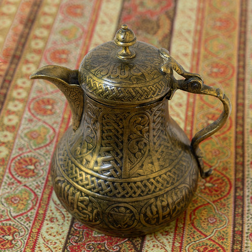 Charming, ornate antique coffee pot
