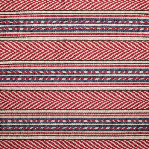 Red/blue/cream Aztec (price is per metre)