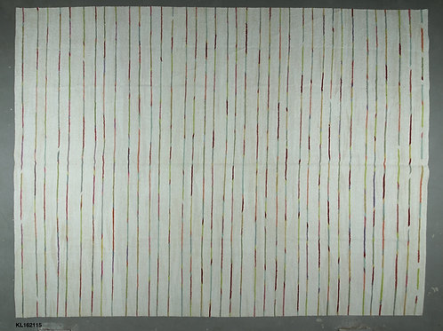 Large rectangular coloured stripe/natural hand woven kilim POA