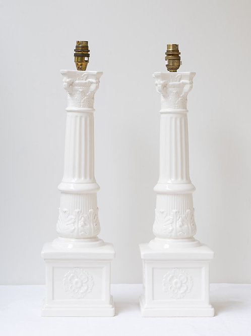 Pair beautiful Casa Pupo column lamps (price is for the pair)