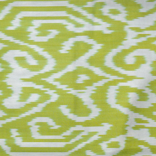 Kirghiz motif ikat in lime green and cream