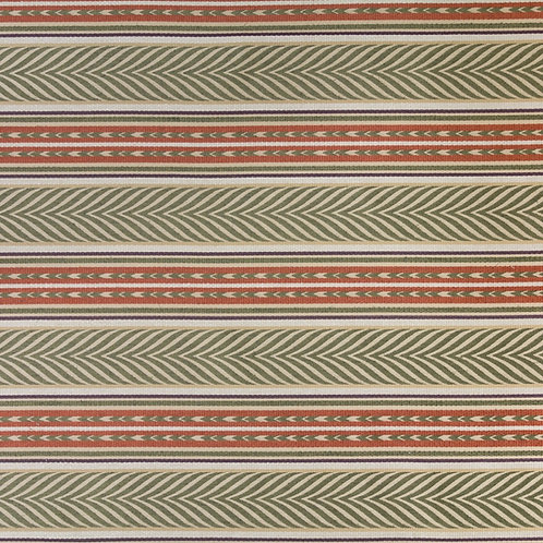 Olive/copper/aubergine/cream Aztec stripe