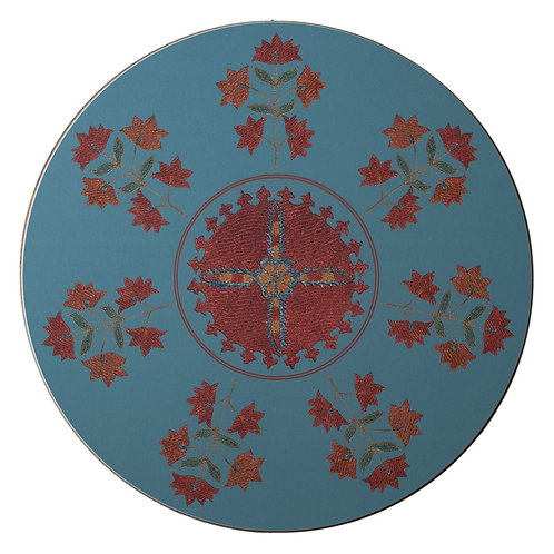 Sprig and star table mat in light blue (price per mat)