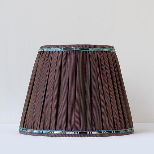 "11"" (28cm) base 19th century hand woven silk/ embroidered silk braid shade"