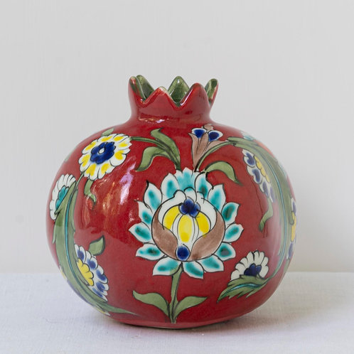 Large hand painted ceramic pomegranate 27