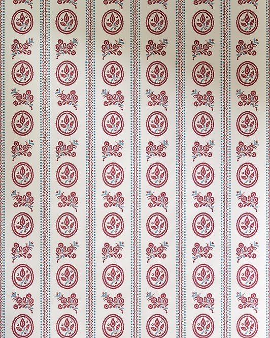 Maribor Wallpaper in Imperial Red