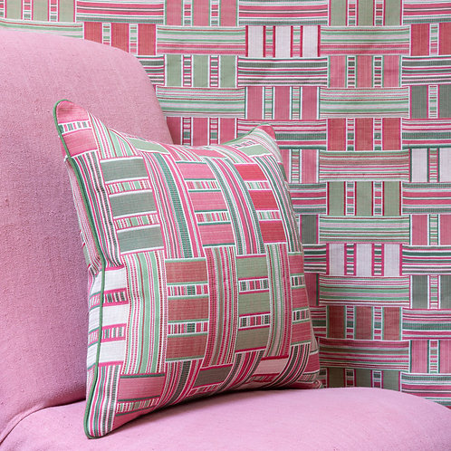 """Susan Deliss double sided """"Demetra"""" fabric cushion"""