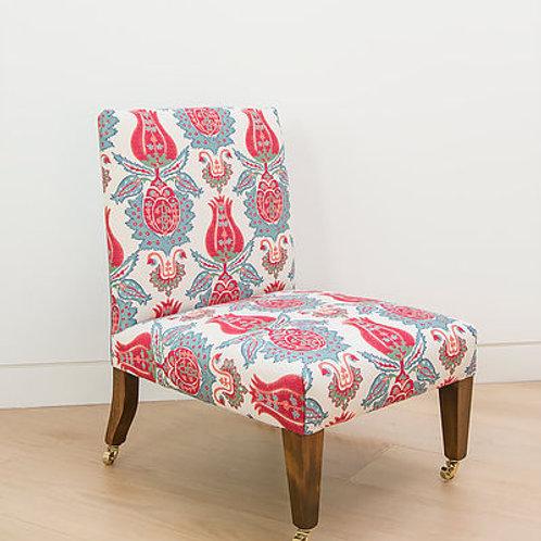 Nursing chair in Susan's Ottoman Motif fabric TO ORDER
