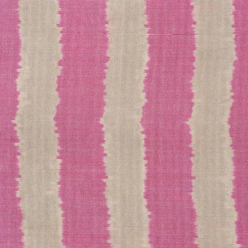Deep rose/ dark sand wiggly wide stripe ikat