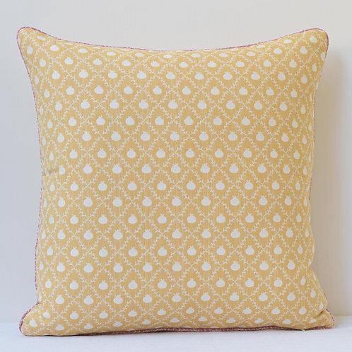 "18""/ 45 cm cushion - Susan Deliss Grenadine in Persian Yellow"