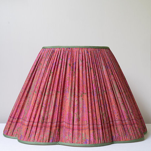 """Beautiful 18""""/46cm base archive print silk fluted lampshade"""