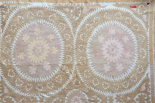 Very large heavily embroidered Samarkand suzani