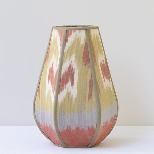 Tulip candle clip shade in pastel hand woven ikat