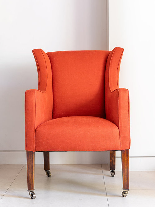 "Armchair in Pierre Frey ""Naomi"" fabric"