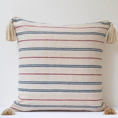 "20""/50cm double sided striped Anatolian hand woven linen cushion"
