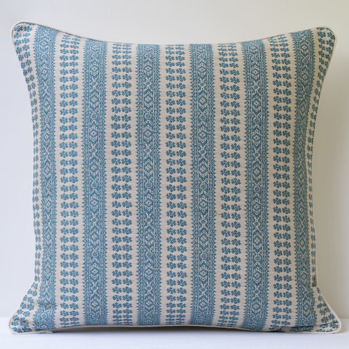 "20""/50cm square cushion in Susan Sky Blue Patmos"
