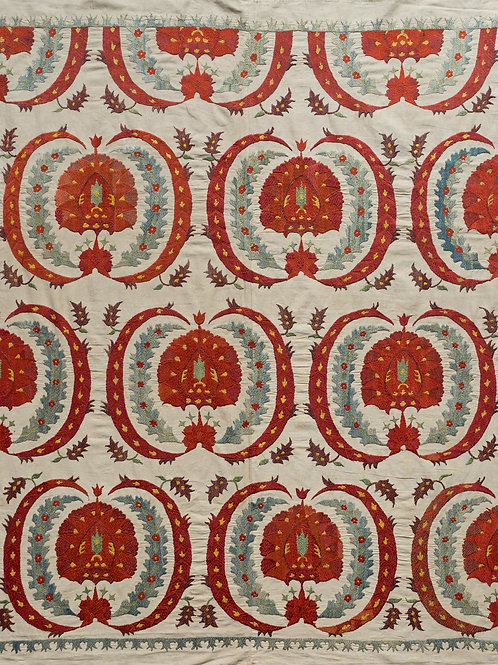 Small silk embroidered suzani 1