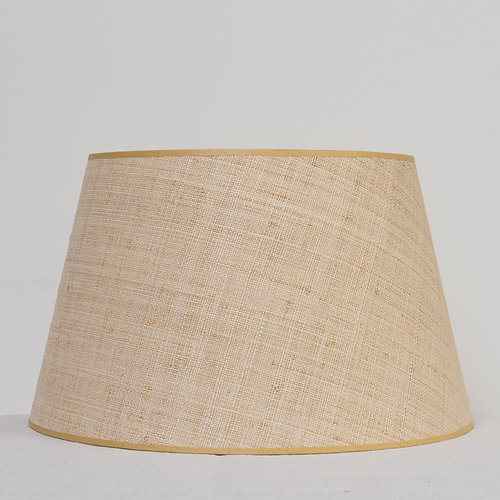 Susan deliss bespoke fabricscushionsikat lampshadesinteriors large raffia lampshade with cream lining mozeypictures Gallery