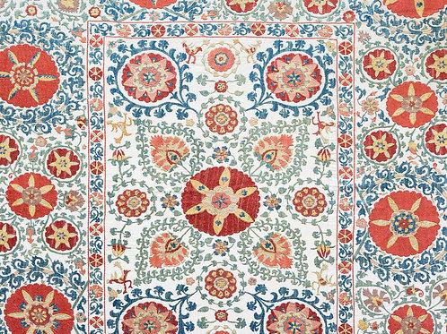 Silk hand embroidered suzani