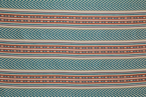 Blue/copper/cream Aztec (price is per metre)