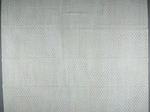 Large rectangular coloured dot/natural hand woven kilim POA
