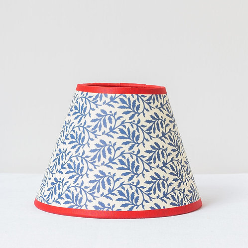 "6"" (15cm) base small blue red card shade with cherry red trim"