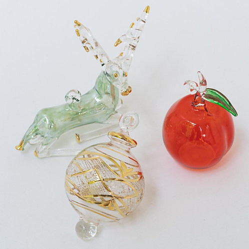 Mixed set no. C of 3 Christmas baubles