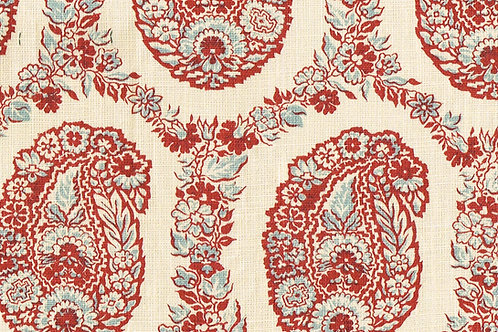 Padishah in Red Blue Cream (price is per metre)