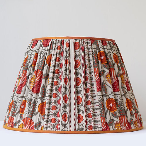 "Beautiful 17""/43cm base Le Manach printed cotton lampshade"