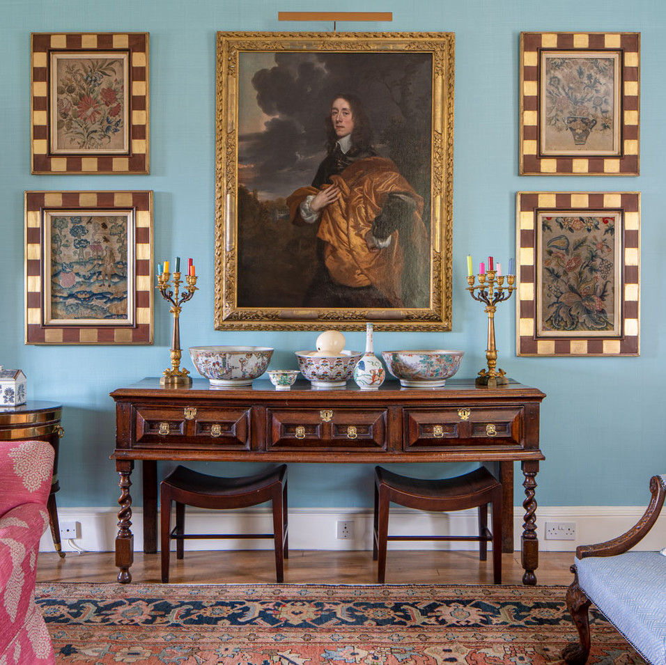 Georgian country house drawing room