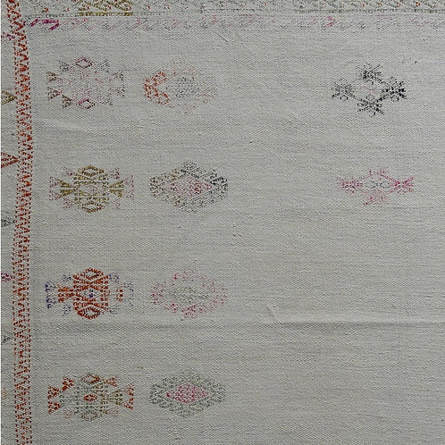 Hand woven and embroidered Anatolian cotton panel 4 POA
