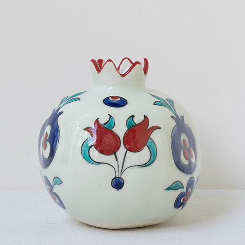Large hand painted ceramic pomegranate 14