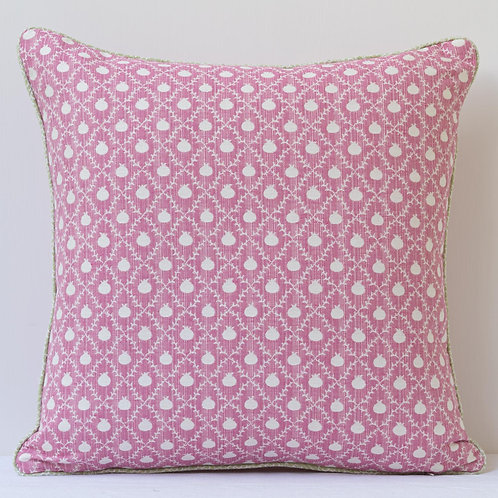 """18""""/ 45 cm square cushion - Susan Deliss Grenadine in Rose Pink"""