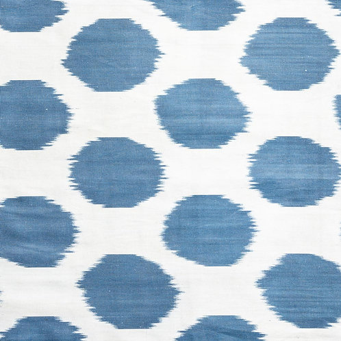 Indigo spot on stone ikat