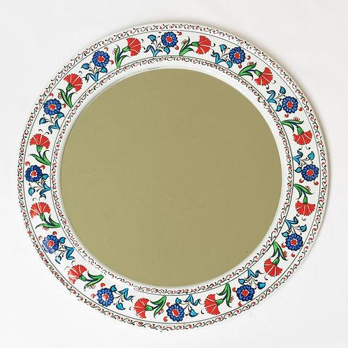 Pretty hand painted ceramic mirror (2)