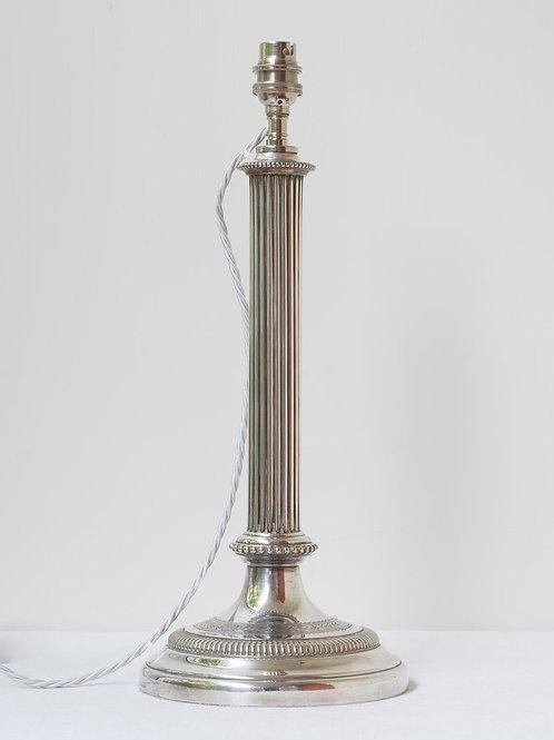 19th century Birmingham silver plated  lamp base