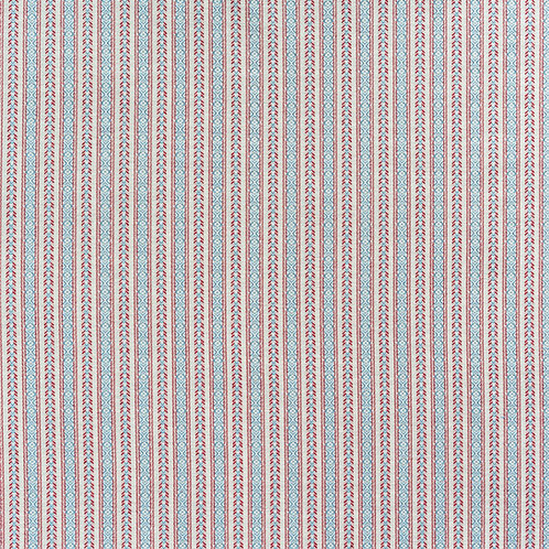 Red/ blue ticking (price is per metre)